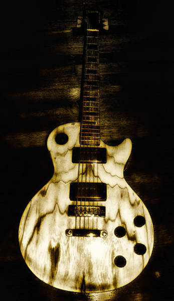 Axe Wall Art - Photograph - Les Paul Guitar by Bill Cannon