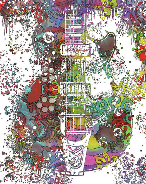 Wall Art - Painting - Les Paul Whammy by Dean Russo Art