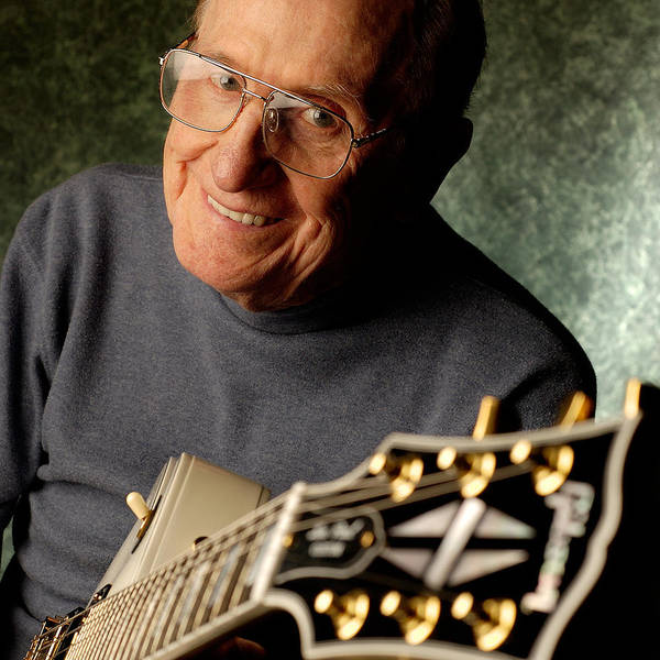 Gene Photograph - Les Paul With His White Gibson Les Paul Custom Guitar By Gene Martin by David Smith