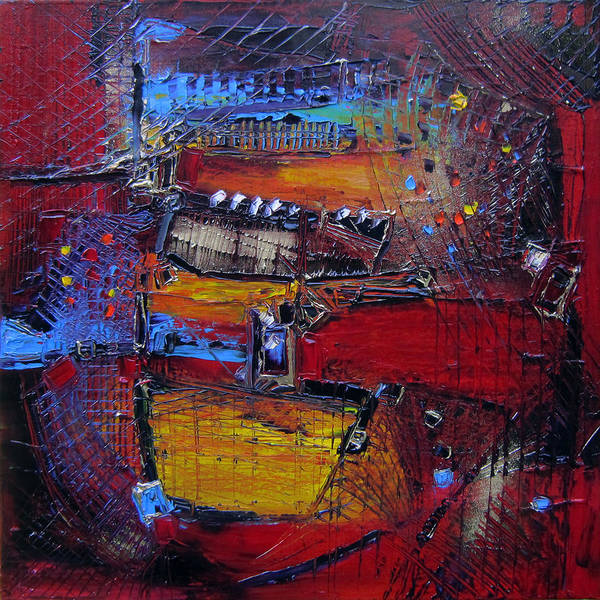 Trapeze Painting - Les Trapezistes by Muriel Cayet