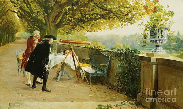 Wall Art - Painting - Les Voyeurs by Louis Emile Adan