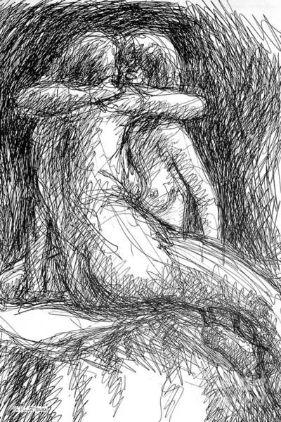 Drawing - Lesbian Sketches  1 by Gordon Punt