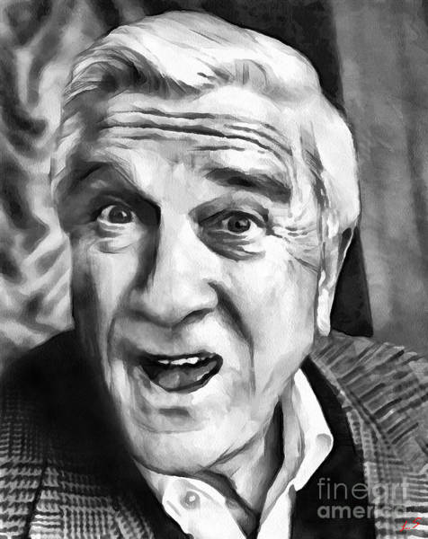 Leslie Nielsen Wall Art - Drawing - Leslie Nielsen Collection - 1 by Sergey Lukashin