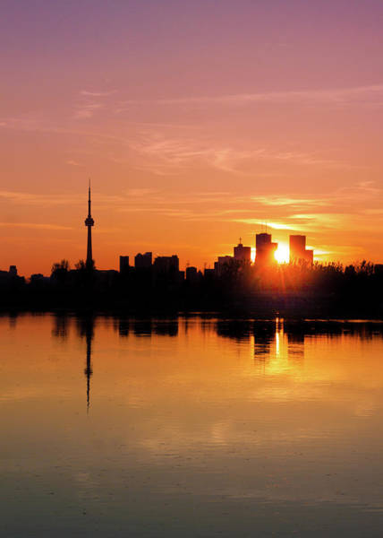 Photograph - Leslie Street Spit Toronto Canada Sunset by Brian Carson