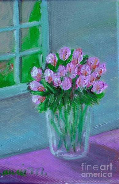 Painting - Leslie's Roses by Laurie Morgan