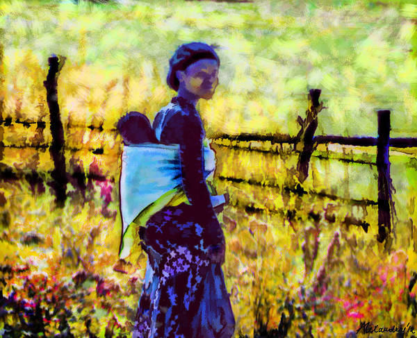 African Tribal Digital Art - Lesotho Woman by Alexandra Jordankova