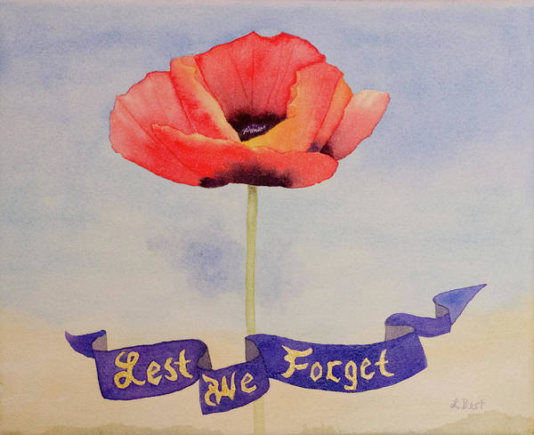 Painting - Lest We Forget by Laurel Best