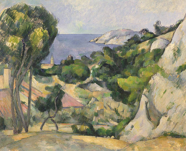 Wall Art - Painting - L'estaque by Paul Cezanne