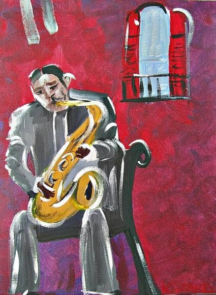 Sax Painting - Lester Prez Young by Kerin Beard