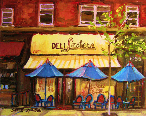 Wall Art - Painting - Lesters Cafe by Carole Spandau