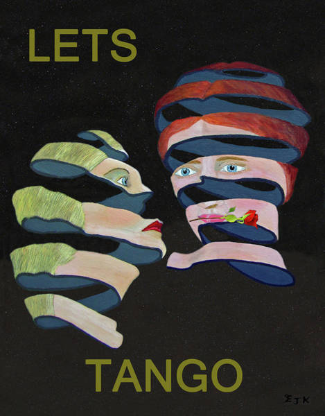Mixed Media - Lesvos Rose Lets Tango by Eric Kempson