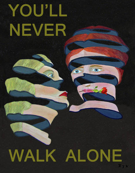 Mixed Media - Lesvos Rose Youll Never Walk Alone  by Eric Kempson