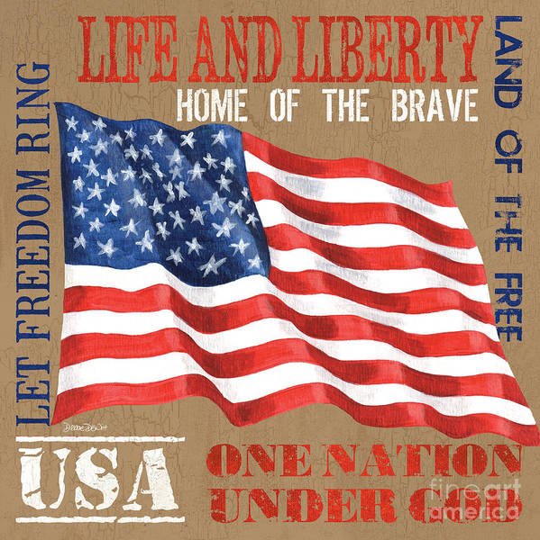 Brave Wall Art - Painting - Let Freedom Ring by Debbie DeWitt
