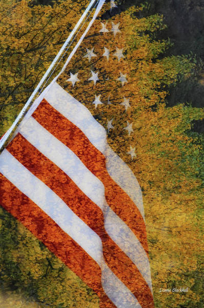 Flying The Flag Wall Art - Photograph - Let Freedom Ring by Donna Blackhall