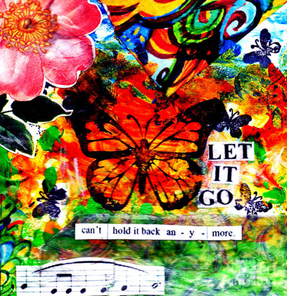 Wall Art - Mixed Media - Let It Go by Genevieve Esson