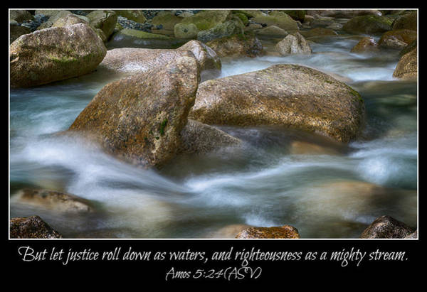 Shannon Falls Wall Art - Photograph - Let Justice Roll As Waters by Stephen Stookey
