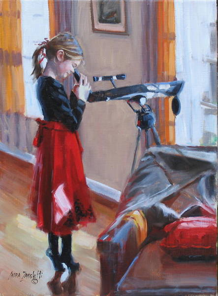 Wall Art - Painting - Let Me See by Laura Lee Zanghetti