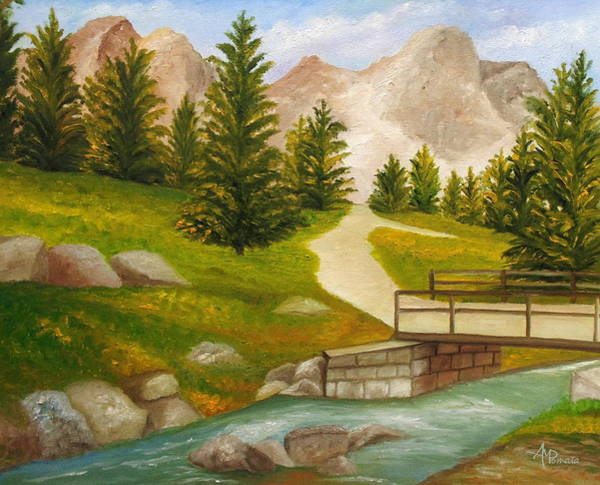 Painting - Let The River Run by Angeles M Pomata