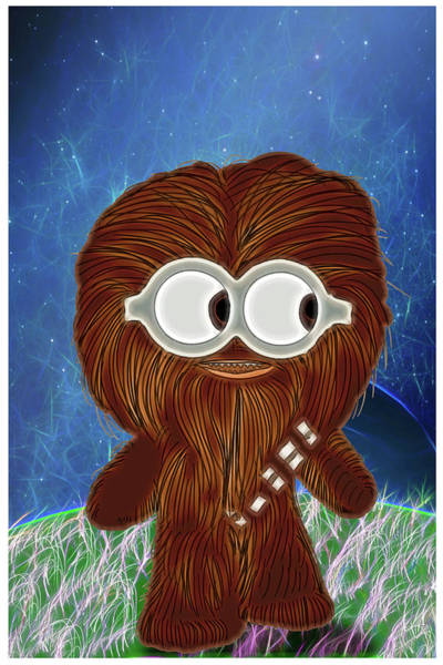 Episode Iv Wall Art - Digital Art - Let The Wookie Win by John Haldane