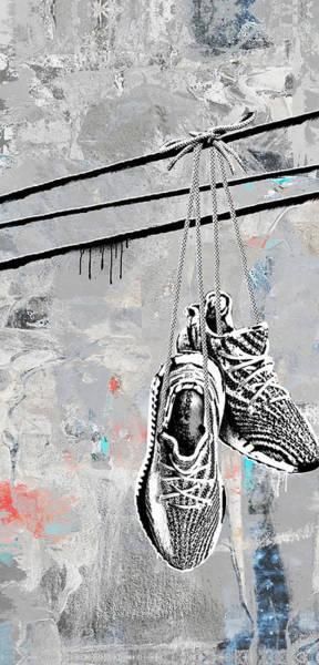 Wall Art - Digital Art - Let The Zebra Hang by Canvas Cultures