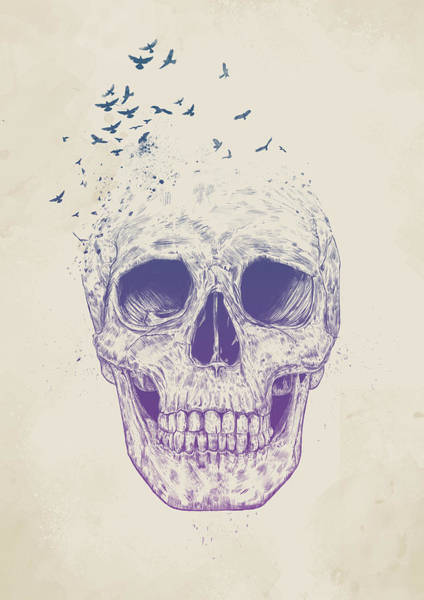 Skulls Wall Art - Mixed Media - Let Them Fly by Balazs Solti