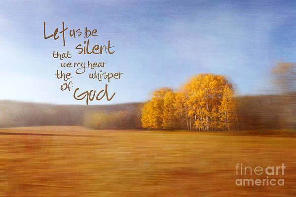 Photograph - Let Us Be Silent by Beve Brown-Clark Photography
