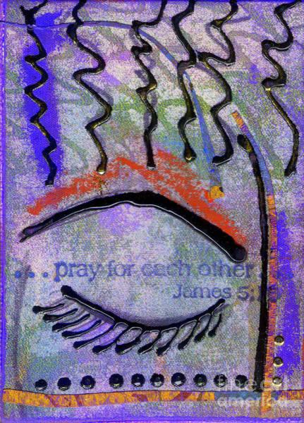Wall Art - Mixed Media - Let Us Pray by Angela L Walker
