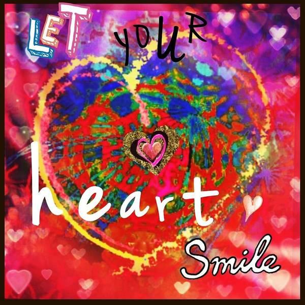 Let Your Heart Smile Art Print