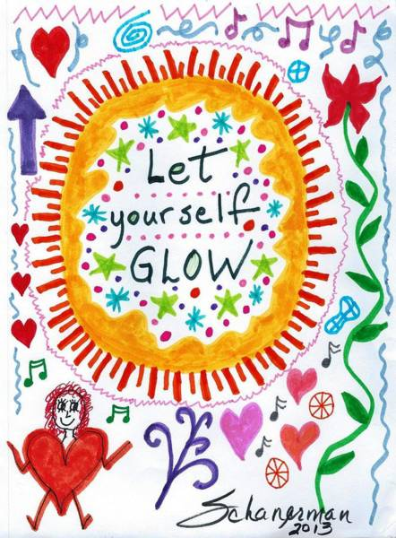 Drawing - Let Yourself Glow by Susan Schanerman