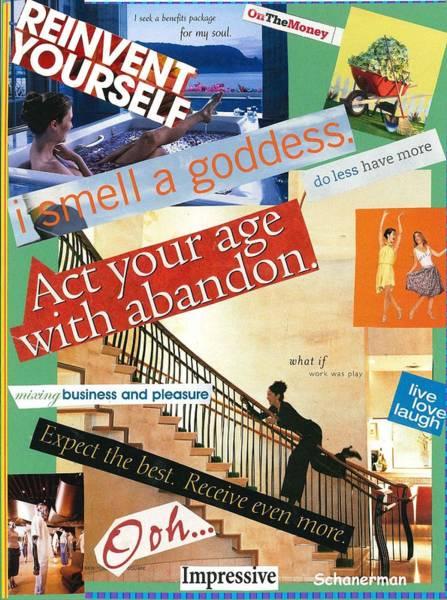 Mixed Media - Let Yourself Go by Susan Schanerman
