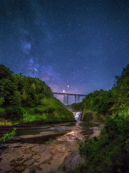 Wall Art - Photograph - Letchworth At Night by Mark Papke