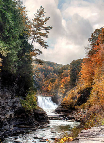 Genesee Photograph - Letchworth Lower Falls 2 by Peter Chilelli