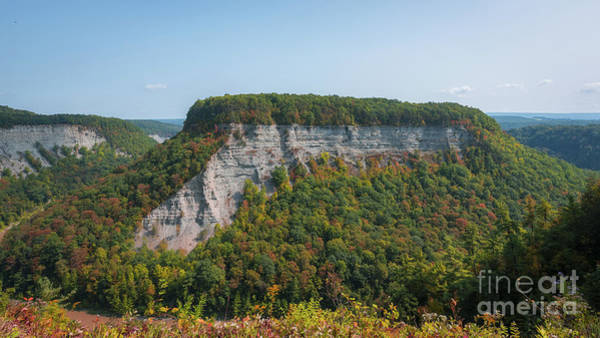 Photograph - Letchworth State Park Autumn Colors by Michael Ver Sprill