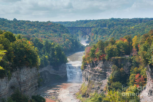 Letchworth Photograph - Letchworth State Park Overlook by Michael Ver Sprill