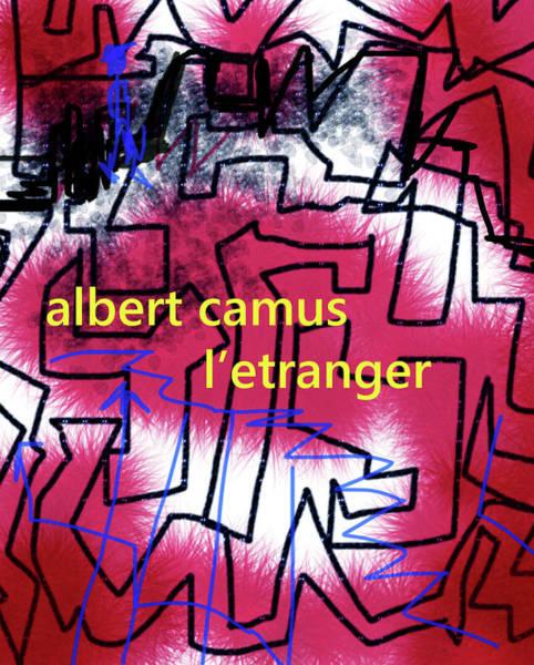 Painting - Letranger  Albert Camus Poster by Paul Sutcliffe