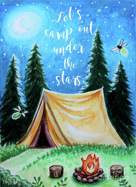 Painting - Let's Camp Out Under The Stars by Elizabeth Robinette Tyndall