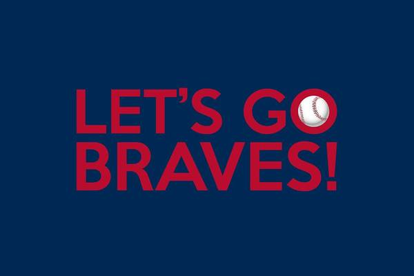 Painting - Let's Go Braves by Florian Rodarte