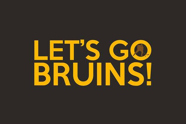 Wall Art - Painting - Let's Go Bruins by Florian Rodarte