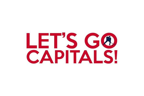 Painting - Let's Go Capitals by Florian Rodarte