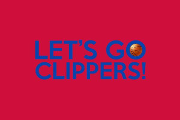 Painting - Let's Go Clippers by Florian Rodarte