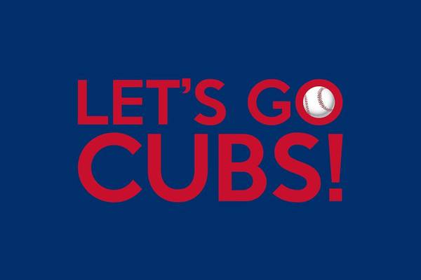 Wall Art - Painting - Let's Go Cubs by Florian Rodarte