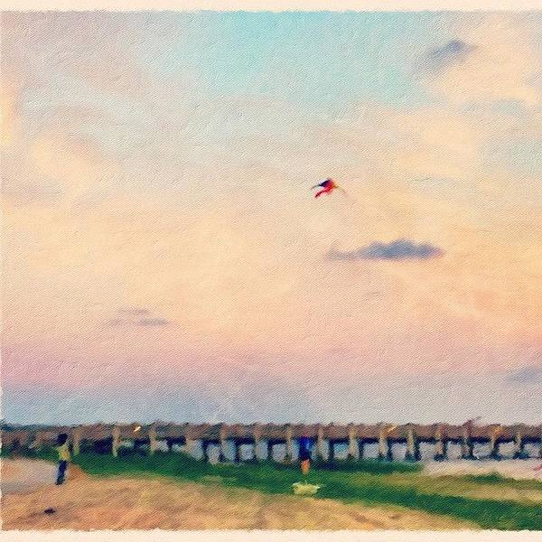 Wall Art - Photograph - Let's Go Fly A Kite  by Joan McCool