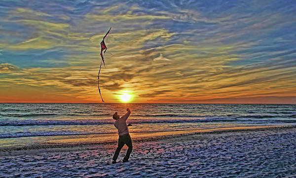 Flying A Kite Photograph - Let's Go Fly A Kite by HH Photography of Florida