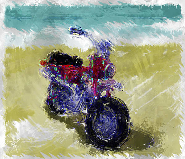 Fast Mixed Media - Lets Go For A Ride by Russell Pierce