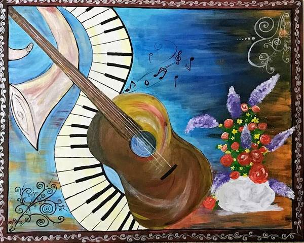 Wall Art - Painting - Let's Go For Some Music by Anuradha Kumari
