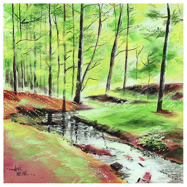 Painting - Lets Go Into The Woods by Anil Nene