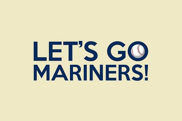 Painting - Let's Go Mariners by Florian Rodarte