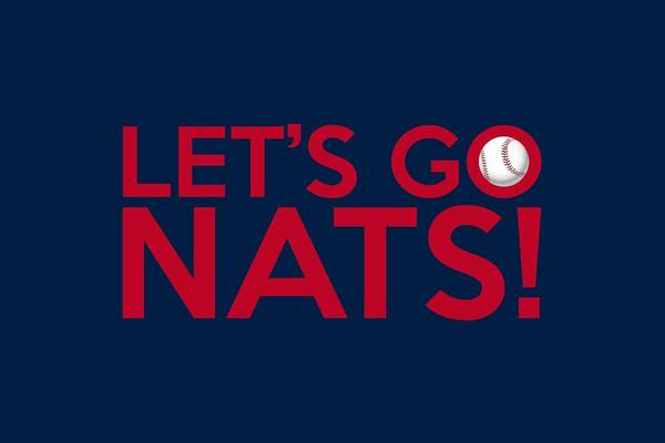Painting - Let's Go Nats by Florian Rodarte
