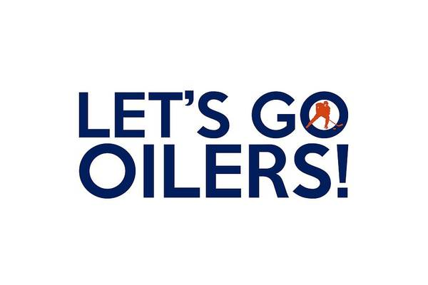 Painting - Let's Go Oilers by Florian Rodarte