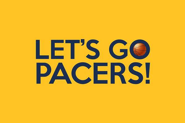 Painting - Let's Go Pacers by Florian Rodarte